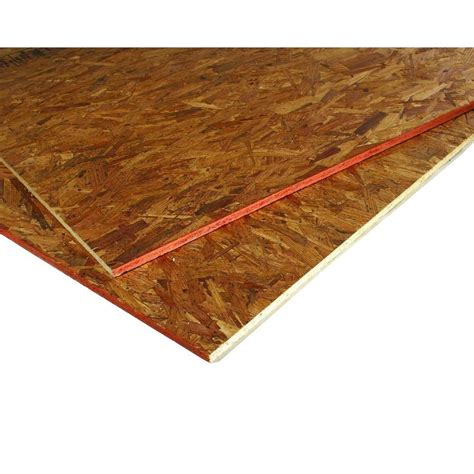 home depot flooring plywood advantech 23 32 in x 4 ft x 8 ft tongue and groove aspen osb underlayment panel 1012405 the