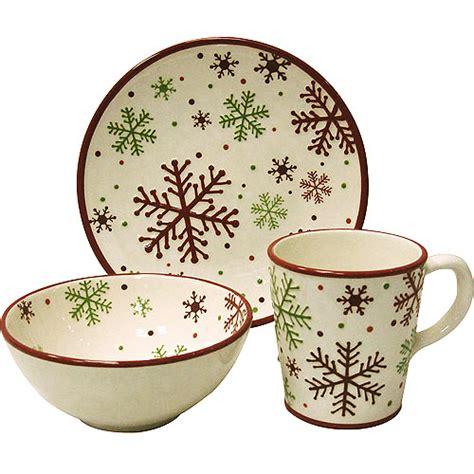christmas snowflake 12 piece dinnerware set kitchen