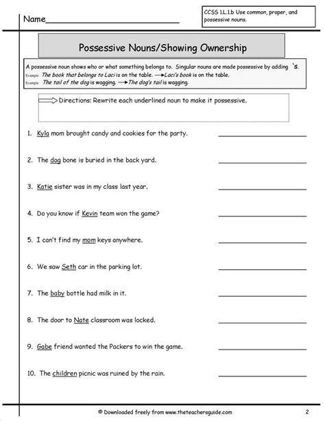 best 25 possessive nouns worksheets ideas on