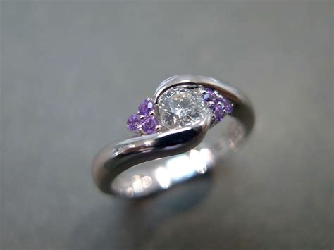 Diamond And Amethyst Ring  Hn Jewelry