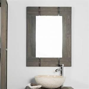 Abat Jour Salle De Bain : miroir de salle de bain loft 60x80 gris ~ Melissatoandfro.com Idées de Décoration