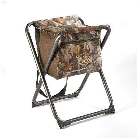 Timber Ridge Armless Folding Camo Chair by Texsport Timber Ridge Shooters Stool 623612 Chairs At