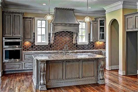 distressed gray kitchen cabinets stunning 10 gray distressed kitchen cabinets design