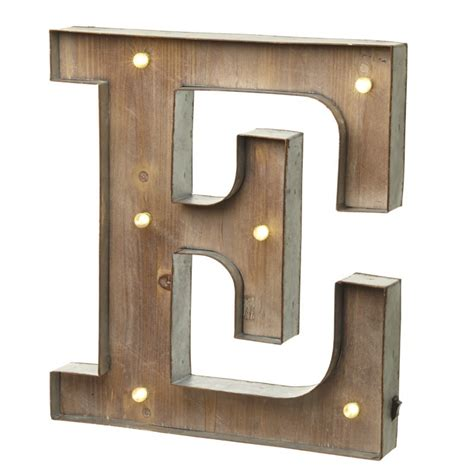 marquee vintage lighted metal letter e illuminated wall