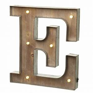Marquee vintage lighted metal letter e illuminated wall for Lighted letter e