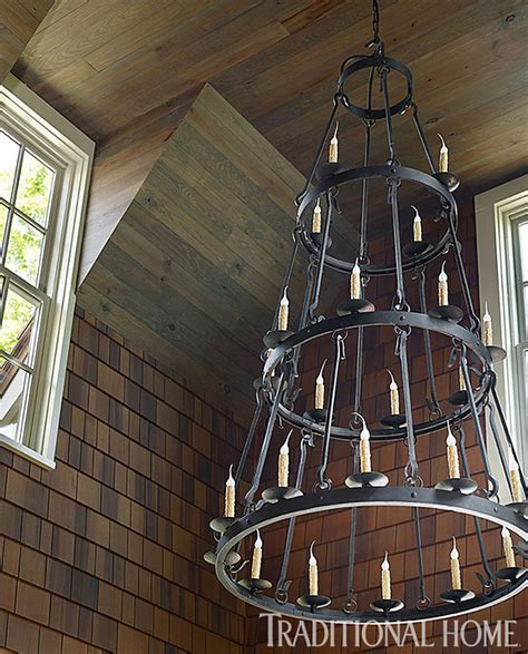 lake house chandeliers lake house with rustic interiors home bunch interior