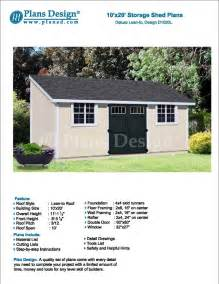 10 x 20 outdoor structure building storage shed plans