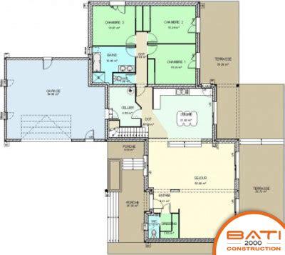 plan maison 5 chambres plan maison contemporaine 5 chambres