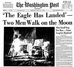 newspaper the day neil armstrong walked on the moon ...