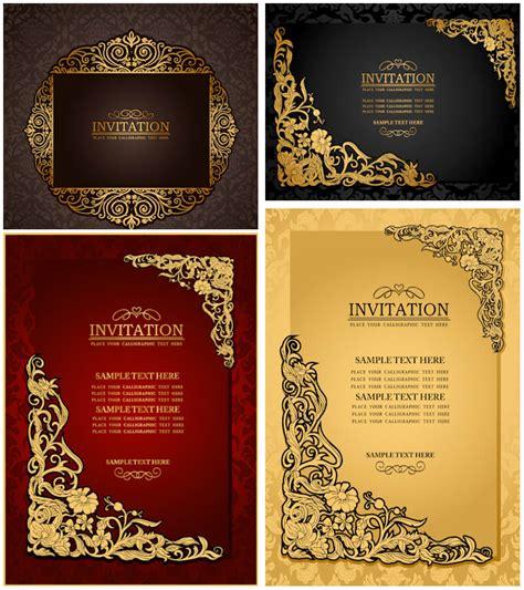 classic ornate wedding invitations vector vector