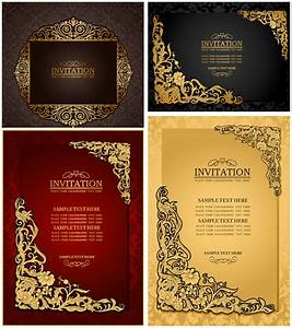 classic ornate wedding invitations vector vector With classic decorative wedding invitations vector