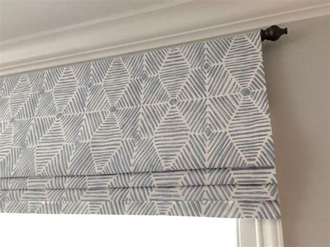 Faux (fake) flat roman shade valance. Custom Sizing