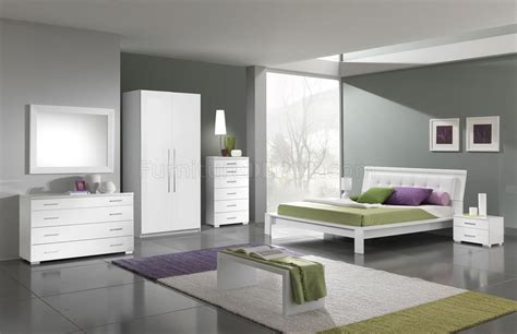 White Modern Bedroom Furniture White Finish Modern Bedroom