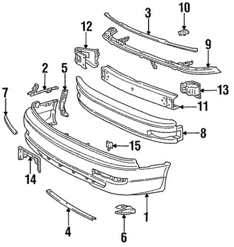 1995 Toyotum Camry Part Diagram by Genuine Oem Bumper Components Front Parts For 1995