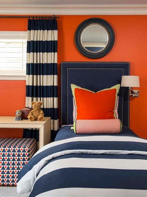 orange and navy color palette boy s bedroom orange paint