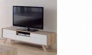 Meuble Tv Scandinave But : meuble tele design laque blanc meuble tv blanc avec led trendsetter ~ Teatrodelosmanantiales.com Idées de Décoration