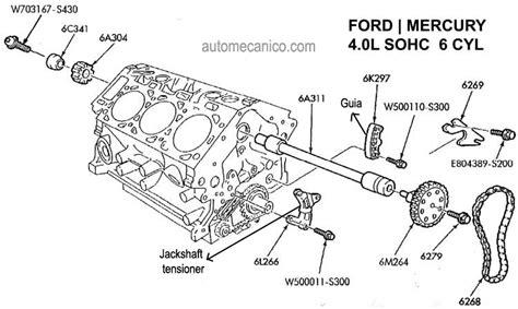 Ford Ranger 4 0 Sohc Engine Diagram by Ford 4 0 Sohc Engine Timing