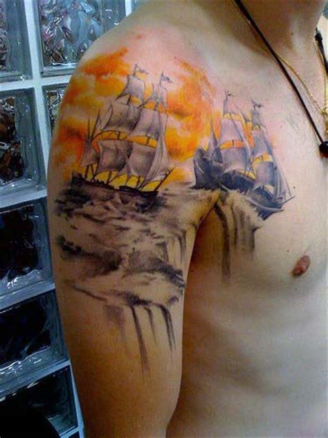 sky tattoos  men atmosphere design ideas