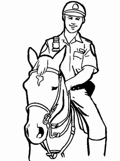 Police Coloring Officer Polizei Ausmalbilder Boys Malvorlagen