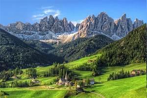 Mountain, Village, Summer, Forest, Tyrol, Grass, Nature