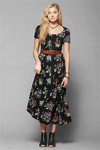 Betsey Johnson Vintage For UO Niki Hook + Eye Maxi Dress