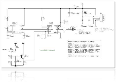 dc motor speed controller circuit schematic