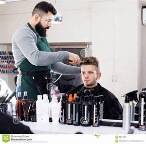 Hairdresser Doing New Haircut Stock Image - Image: 89545469