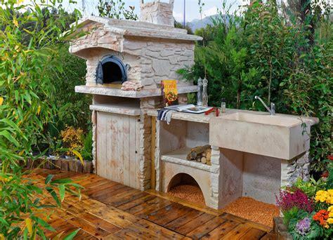 cuisine d été castorama cuisine d été extérieure en avec four à évier