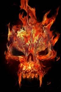 Flaming Skull by Chemikal-GraphiX on DeviantArt