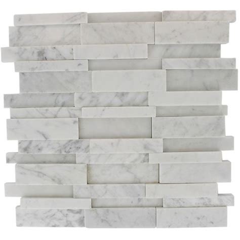 white marble brick tiles splashback tile dimension 3d brick white carrera stone 12 in x 12 in x 8 mm marble mosaic wall