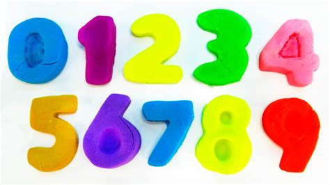 aprender los numeros con play doh learn the numbers with