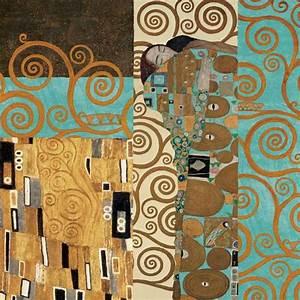 Fulfillment, Reinterpreted, Art, Print, By, Gustav, Klimt