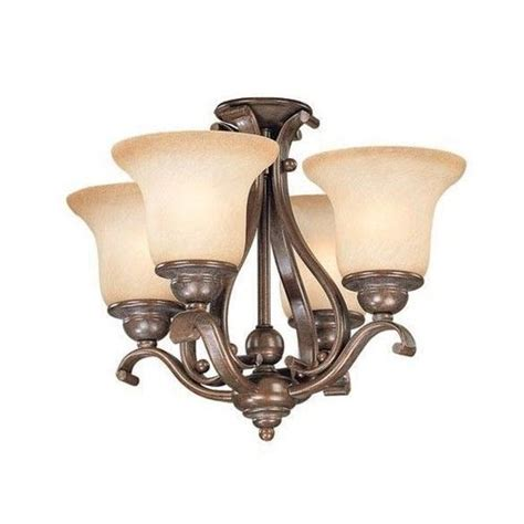 new 4 light ceiling fan light kit or chandelier bronze