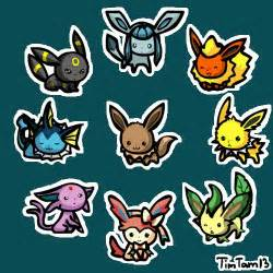 Chibi Pokemon Eevee Evolutions