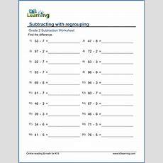 Grade 2 Subtraction Worksheets  Free & Printable  K5 Learning