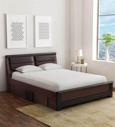 buy ryouta queen size bed  drawer storage  wenge