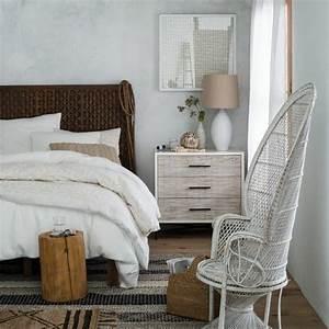 Lit En Osier : tete de lit rotin blanc maison design ~ Teatrodelosmanantiales.com Idées de Décoration