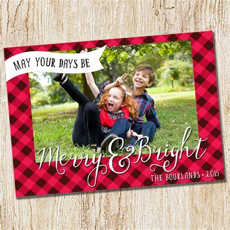 photo christmas card buffalo check modern logo