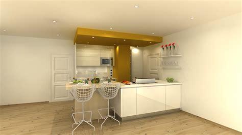 meubles de cuisine jaune citron maison et mobilier d