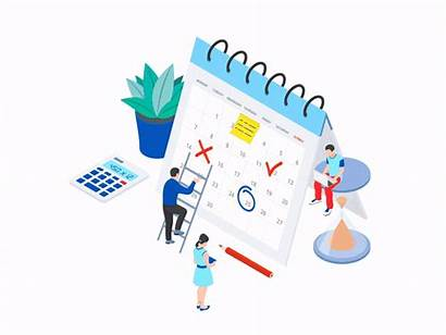 Planning Strategize Isometric Schedule Let Timetable Package