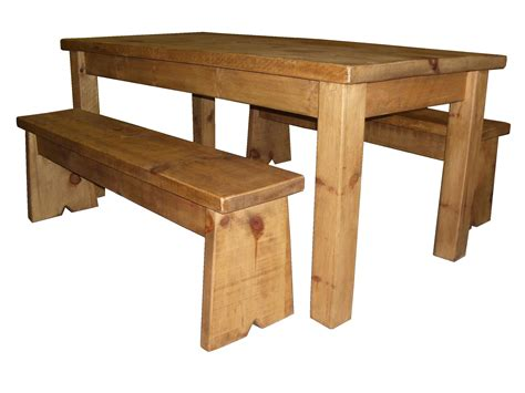 Homeofficedecoration Rustic Pine Dining Table Bench