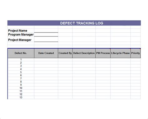 sample issue tracking templates   excel