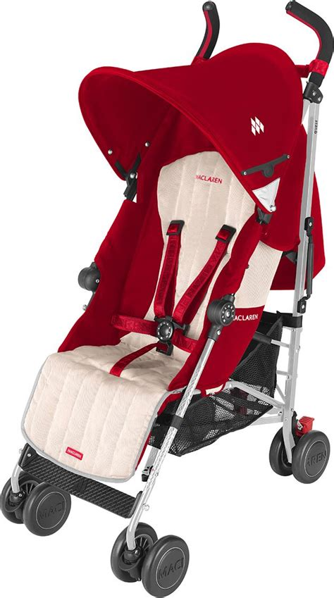 Maclaren Reclining Umbrella Stroller by Maclaren Quest Sport Stroller Scarlet Wheat Baby Gear