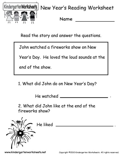 20 best images of easy reading worksheets for kindergarten