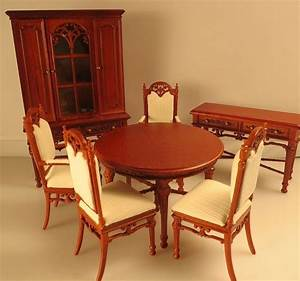 Bespaq Dollhouse Miniature Dining Furniture Set Table