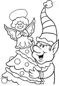 Christmas Elves Coloring Pages