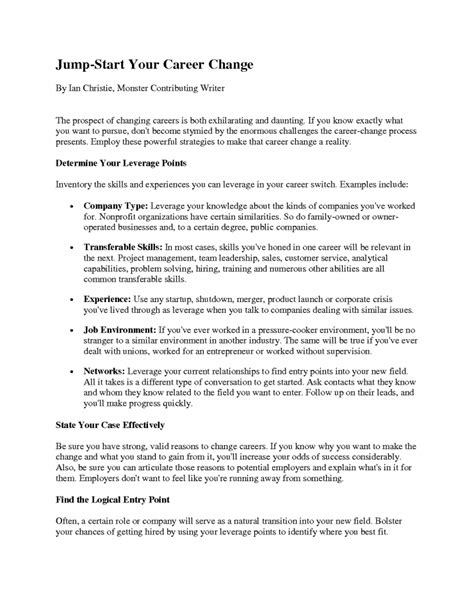Chronological Resume Career Change by Resume Sle Method 20 Cover Letter Template For Resume
