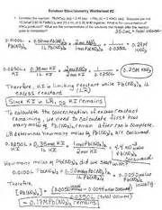 13 best images of chemistry stoichiometry worksheet answer key worksheets answer key