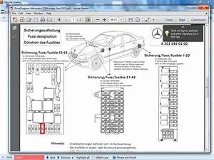05 Mercedes W203 Fuse Diagram