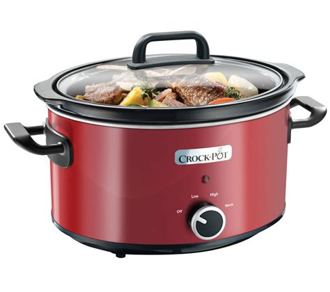crock pot cooker buy crock pot scv400rd slow cooker red free delivery currys